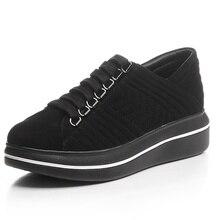 Flat Platform Nubuck Grain Leather chaussure femme women flat shoes Round Toe black red Comfortable woman