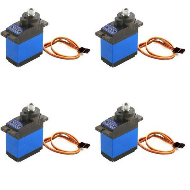 4PCS MG92B 13.8g 3.5KG Torque Metal Gear Digital Servo for RC Model Drone Airplane Helicopter Car Boat Robot image