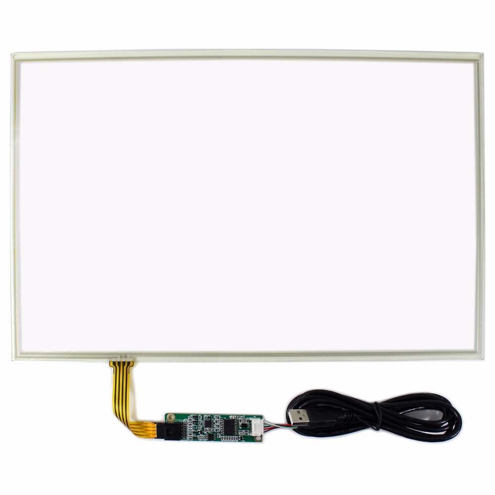 15.4 Resistive Touch Panel With Controller Card for 15.4 1280x800 LCD Screen 15 4inch 4 wire resistive touch panel for 15 4inch 1280x800 1400x800 lcd screen