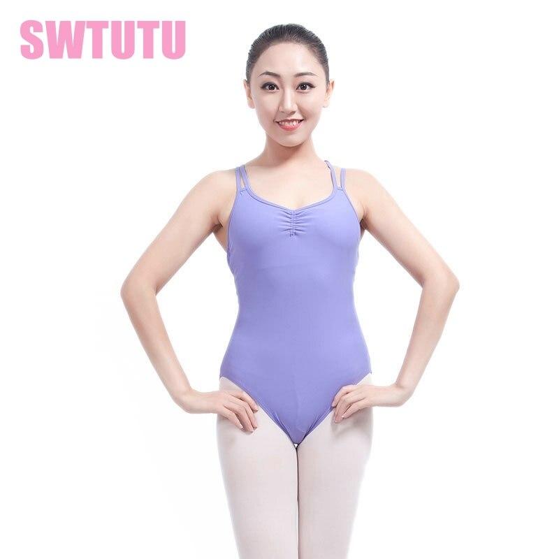 gymnastic Dance Clothes dance leotards Matt lycra ballet leotards for girls pinch front mesh-inset back ML6024
