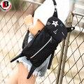 Мода Весело Милые Личность Дизайн Кошка Форма Смешные Холст Crossbody Сумка Для Женщин Девушки Дети Школы Мультфильм Подарок Черный