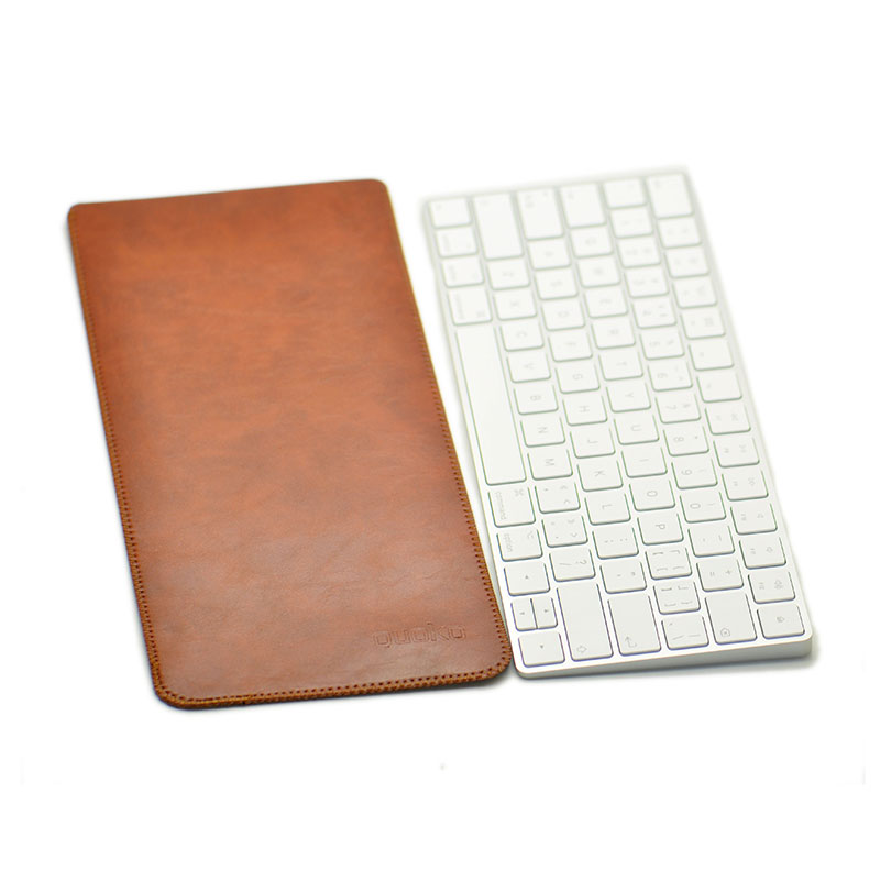 Arrival selling ultra-thin super slim sleeve pouch cover,microfiber leather laptop sleeve case only for Apple Magic KeyBoard 2 image