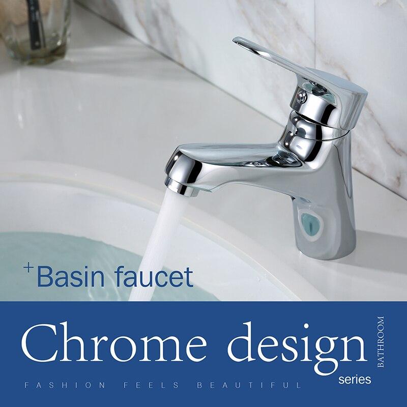 LOY Moderne salle de bains Évier Facette mitigeur Lavabo Robinet Lavabo Robinet En Laiton Poli Chrome LOY 01001