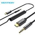 Аудиокабель Vention типа C до 3,5 мм, usb type-C 3,5 Jack, USB C до 3,5 мм, пружинный Aux кабель для Xiaomi, автомобильные стереодинамики, наушники - фото