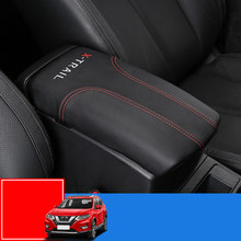 car central container armrest box PU Leather car-styling content box holder accessories For Nissan X-trail X trail T32 2014-2017(China)