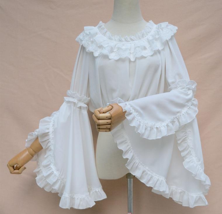 Gorgeous New Long Flare Sleeve Chiffon Top Plus Size Chiffon Blouse For Women