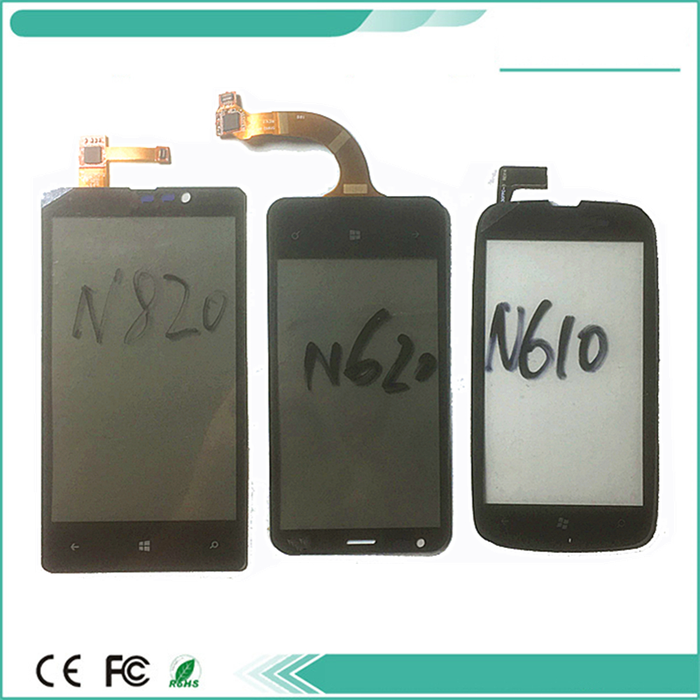Touchscreen Front Panel For <font><b>Lumia</b></font> <font><b>820</b></font> n820 <font><b>Lumia</b></font> 620 n620 <font><b>Lumia</b></font> 610 n610 Touch <font><b>Screen</b></font> Sensor LCD Display Digitizer Glass Cover image