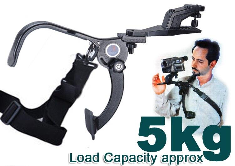 Hand Free Tripod Camcorder Video DV DSLR Camera Shoulder Mount Support Pad 5kg - No.7 Film & Foto Equipment store