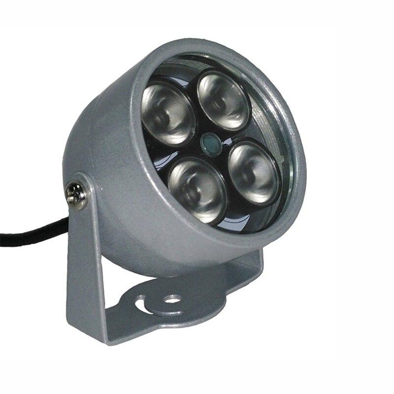 imágenes para Metal de La Cámara de vigilancia Al Aire Libre Impermeable 4 unids Gama Infrarroja del Terraplén del led Noche Vsion iluminador Lámpara Envío Gratis