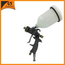 цена на SAT1215 high pquality spray paint 1.4nozzle  pneumatic spray gun power  blue lvlp manual sprayer