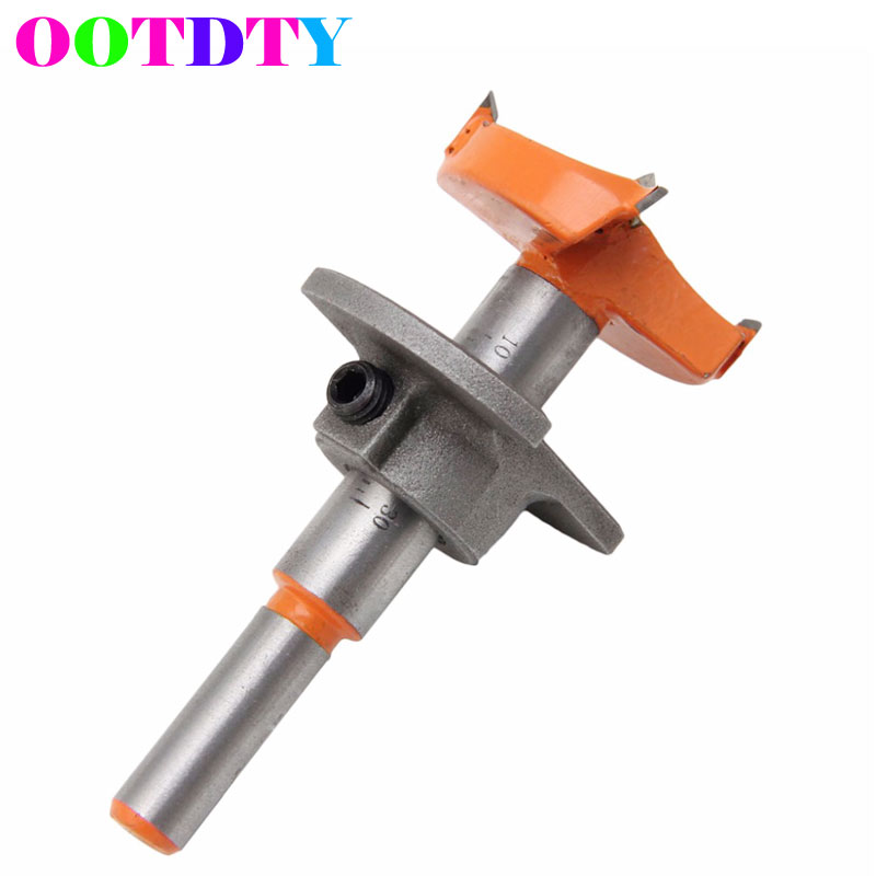 OOTDTY Cemented Carbide 35mm Hole Saw Woodworking Core Drill Bit Hinge Cutter Boring Bit Tipped Drilling Tool MY10_35