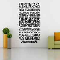 الأسبانية الأمثال diy الفينيل ملصقات الحائط غرفة المعيشة غرفة نوم الأطفال ديكور المنزل جدارية الفن خلفيات JG1203