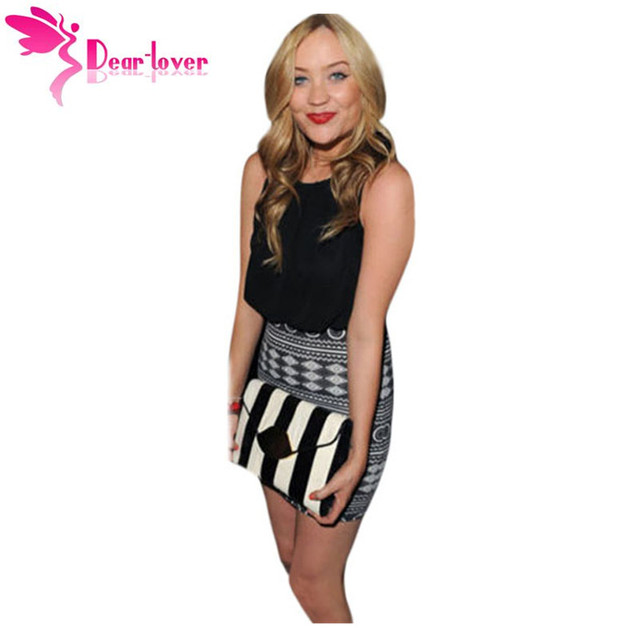 935bec0443c42 US $16.35 |Dear Lover Office Ladies Women Summer Sleeveless Robe Femme  Black Aztec Mini Dress Party dresses Vestido de Festa Curtos LC21550-in  Dresses ...