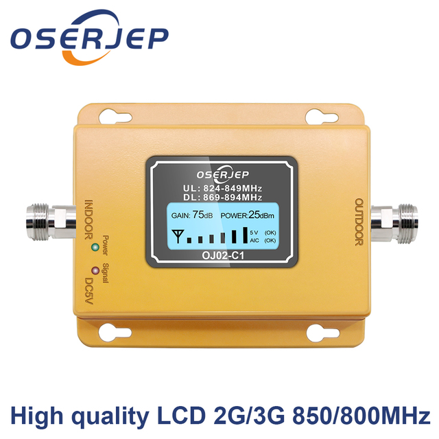 CDMA Repeater 850 MHz 70dB LCD 2G 3G 850 MHz UMTS GSM CDMA โทรศัพท์มือถือสัญญาณ Repeater Booster โทรศัพท์มือถือสัญญาณ CDMA