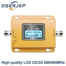 Repetidor de señal de teléfono móvil, amplificador de señal, 850 MHz, 70dB, LCD, 2G, 3G, 850 mhz, UMTS, GSM
