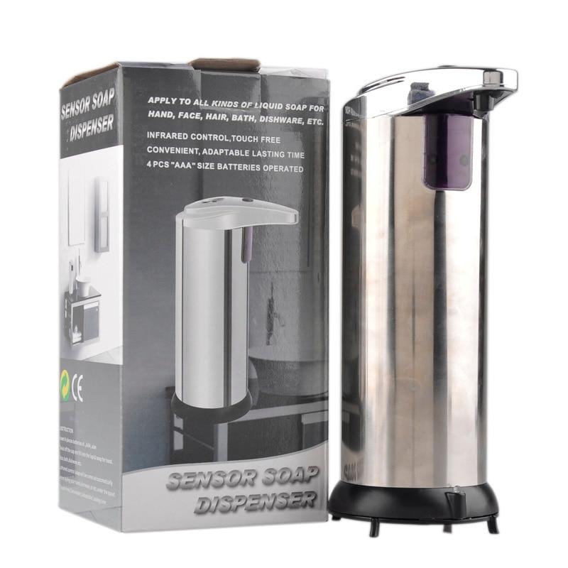 280 ml Seifenspender Automatische Sensor Mounted Basis Wand Touch-freies Edelstahl Sanitizer Dispenser Für Küche Bad