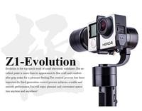 Free EMS DHL Zhiyun Evolution Z1 EVOLUTION 3 Axis Handheld Brushless Camera Gimbal For Gopro 3