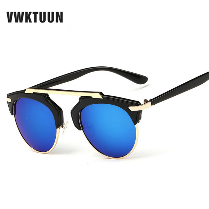 VWKTUUN Armação de Metal Óculos De Sol Das Mulheres Designer de Marca Óculos  De Sol Dos Homens Vidros do Olho de Gato Do Vintage Famosa Marca de Óculos  de ... 8aea93b0de