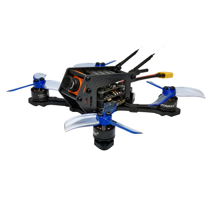 New SPC Maker 100SP 100mm Brushless FPV Racing Drone with F3  Flight Controller 40CH VTX RunCam Micro Swift 600TVL Camera BNF fx797t 5 8g 25mw 40 channel av transmitter with 600 tvl camera soft antenna for indoor fpv racing drone