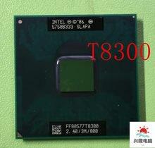 Intel core duo t8300 t8300 cpu 3m cache, 2.4ghz, 800mhz fsb, processador de laptop dual-core para chipset 965