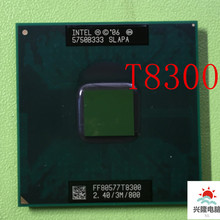 Intel core duo t8300 t8300 cpu 3m cache, 2.4ghz, 800mhz fsb, processador de laptop dual-core para chipset 965