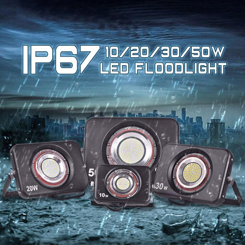 Reflector LED ultrafino 220V 240V Luz de inundación LED 10W 20W 30W - Iluminación exterior - foto 2
