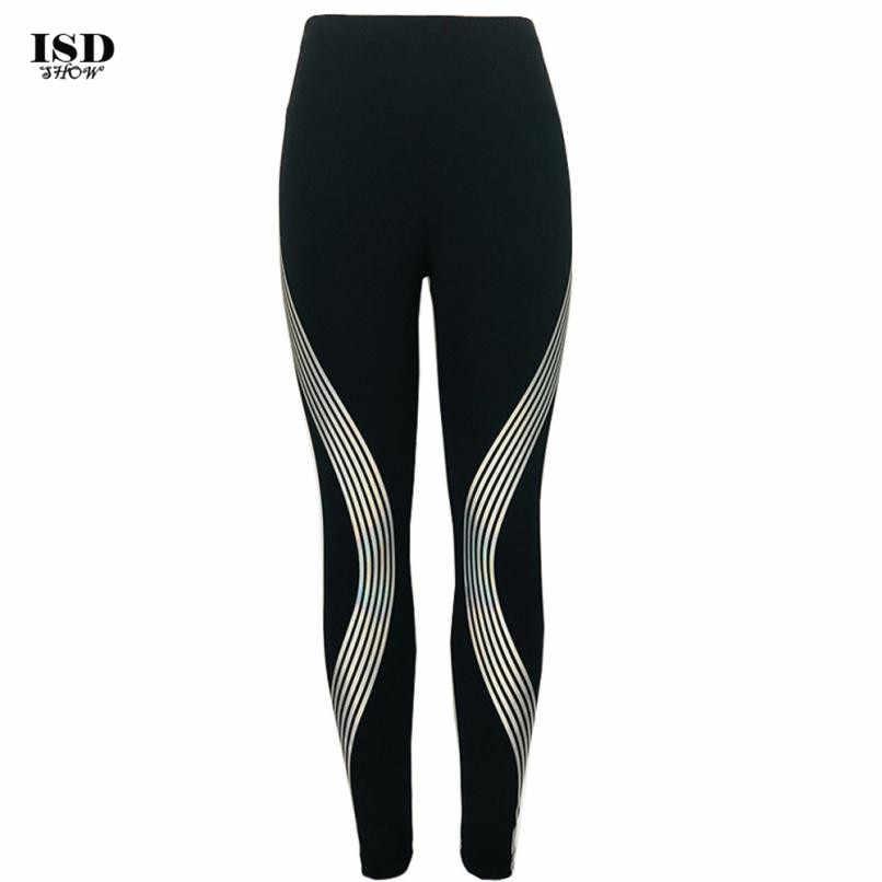 cb21f1c1d1190 ... KLV Women Yoga Pants Neon Rainbow Leggings Fitness Sports Gym Running  Yoga Athletic ropa deporte mujer ...