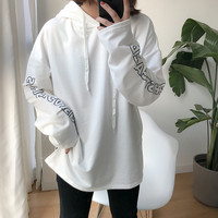 3 Colors 2017 Spring Bf Letter Thin Sweatshirts Womens Hoodies Womens A9351