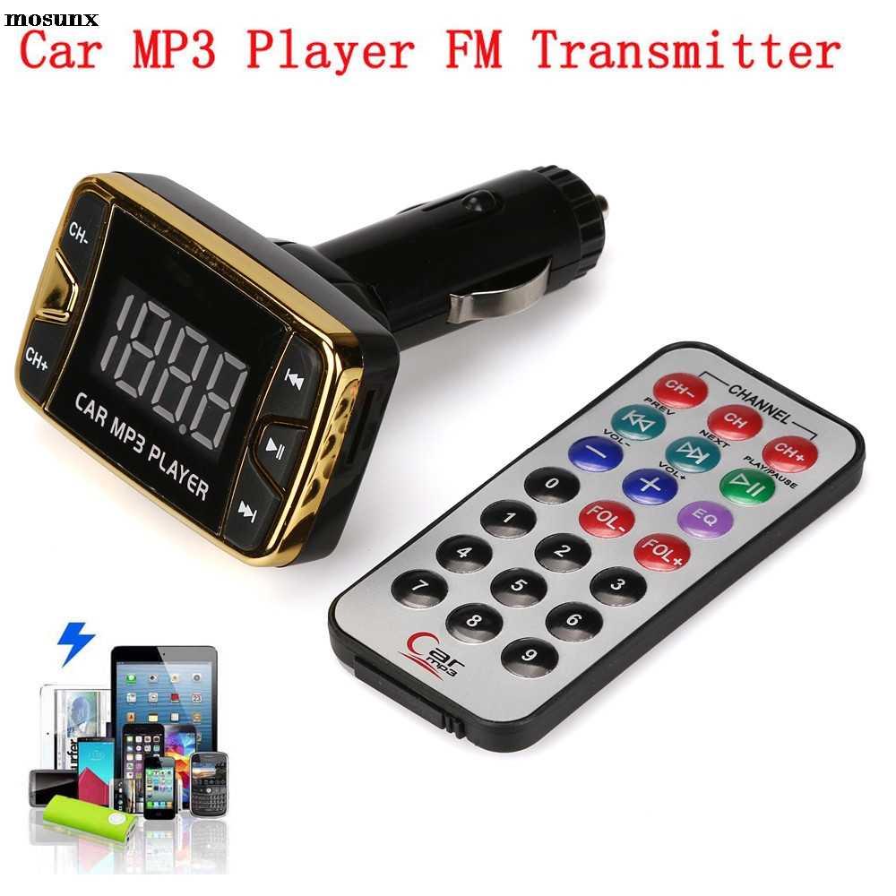 شحن مجاني مشغل MP3 لاسلكي معالج إرسال موجات fm سيارة عدة USB SD TF MMC LCD راديو بعيد أدوات إلكترونية للسيارات سيارة الديكور
