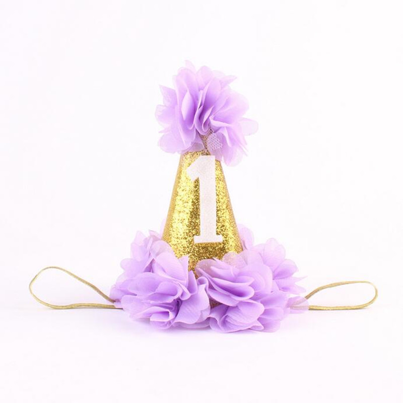 New posh Birthday Girl Party Hat 1st Birthday Hat Princess Glitter
