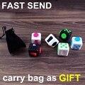 2017 Newest Kickstarter Fidget Cube Puzzles Box Toys Vinyl Desk Spin Button Toys Christmas Gift Relax tool F013C