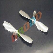 10pcs lot 1mm aperture red propeller aircraft propeller blades pros accessories 75MMmodel airscrew UAV quadrocopter accessories