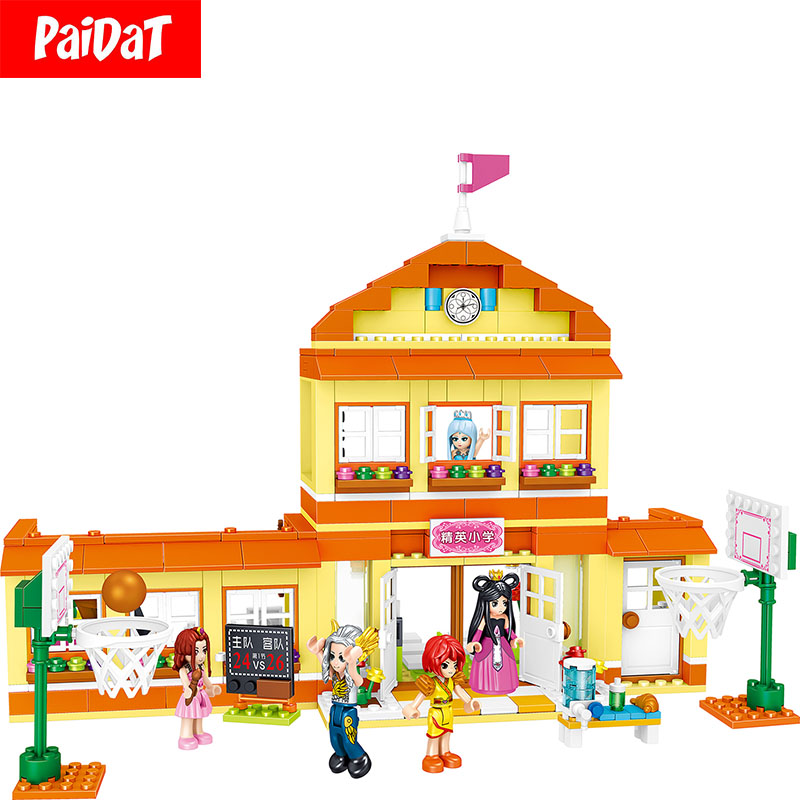 Kits de blocs de Construction QL1612 école primaire Legoing City House pour enfants cadeau éducatifs Construction jouets Figure briques
