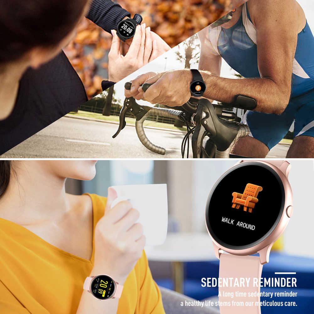 Inteligente de fitness trakcer relógio feminino pedômetro freqüência cardíaca esportes pulseira inteligente multi-cor relógio homem para android ios banda inteligente