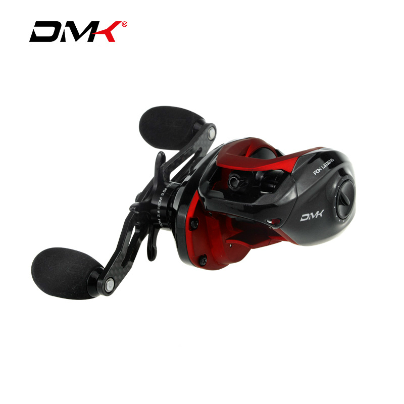 DMK 7.2:1 High Ratio Low Profile Fishing Baitcasting Reel Left Right Hand Carbon Handle Saltwater Lure Bait Cast Fishing Reel