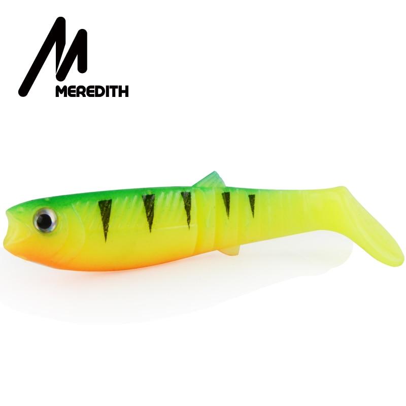 Meredith 10 pçs 5.5g 8cm iscas de pesca iscas de pesca artificial suave iscas canibal peixe de pesca iscas macias shads JX62-08