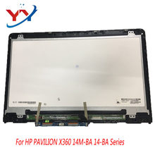 "14"" FHD LCD Display with TOUCH for HP PAVILION X360 14M-BA 14-ba series LED Screen Replacement 1920*1080/1366*768(China)"