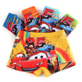 5Pcs/Lot Organic Cotton Kids Boys  Shorts car Panties Pure Color Children's cartoon Underwear Boys Underwear 2-7 Year