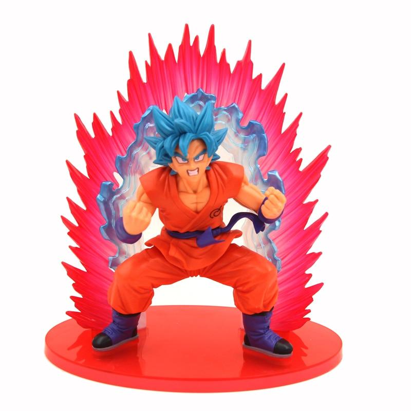 Anime darbība skaitlis Dragon bumba rotaļlietas Super Saiyan zils Dievs Dēls Goku Saule Wukong lelle rotaļlieta Leļļu bērnu rotaļlietas Car Desk Decoration
