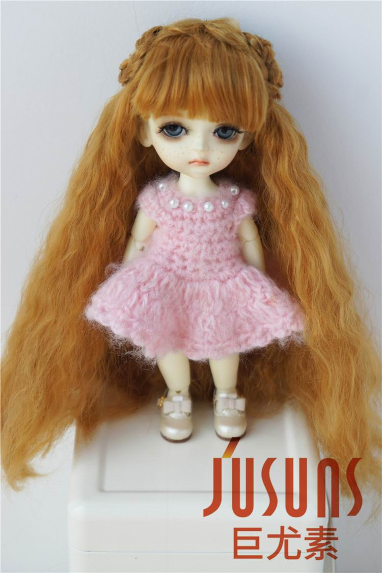 JD098 1/8 Synthetic mohair  doll wigs  Fairly Sobazu Wig  5-6 inch  Lati yellow doll accessories 1 3 1 4 1 6 1 8 1 12 bjd wigs fashion light gray fur wig bjd sd short wig for diy dollfie