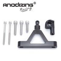 CNC Motorcycle Adjustable Steering Stabilize Damper Bracket Mount Kit For Kawasaki ZX6R ZX 6R 2007 2008