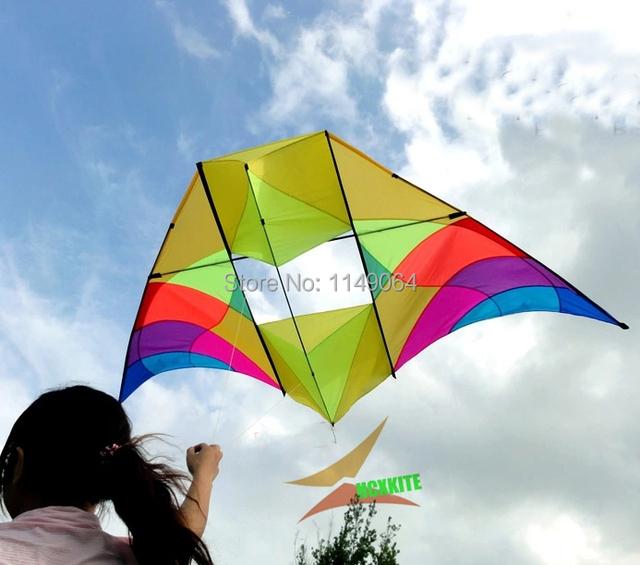 Alta calidad del envío 3 m ventana kite tela paraguas varilla de carbono con mango cometas línea de quads 3d artesanía hcxkite fábrica weifang