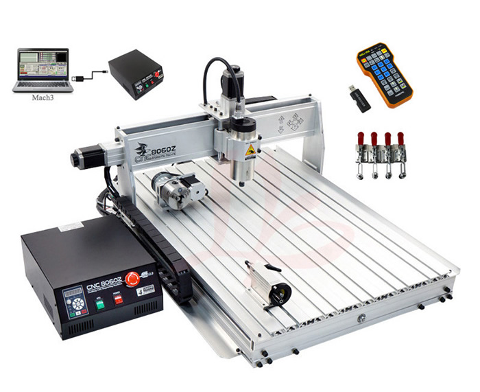 EU free tax! LY 8060Z USB port 4 axis cnc router engraver cnc 8060 with 2.2kw Engraving Drilling and Milling Machine diy 2520 4axis rotary axis cnc router engraving drilling and milling machine working size 250 200mm free tax to eu