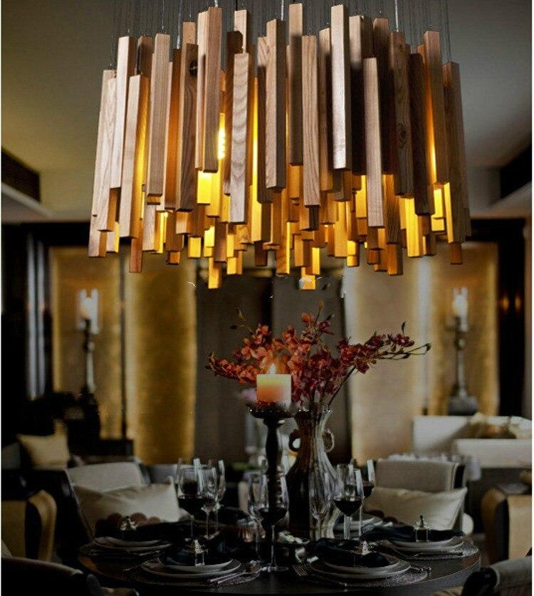 Trustful Japan Novelty Wood Pendant Lights Lamp Vintage Abajur Sala Creative Pendant Lamps Chinese Style Design Lamp Home Deco Luminaire Lights & Lighting Pendant Lights