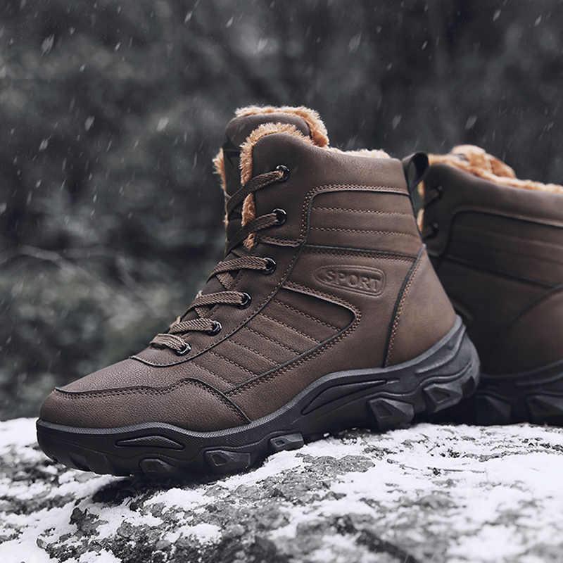 a0fc4bf40d ... YRRFUOT Mens Snow Boots Waterproof Winter Boots Men Casual Sport Shoe  Warm Fur Fashion Sneaker High ...