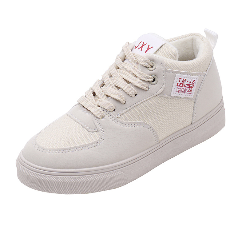 2018 new winter lady plus velvet shoes classic PU comfort shoes