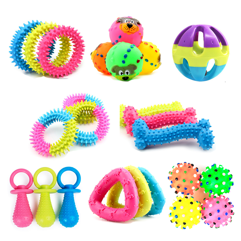 Pet Dog Toy Chew Rubber Toys For Small Dogs Puppy Non-toxic Pet Toys Funny Interactive Resistant To Bite Teeth Training Pet Dog