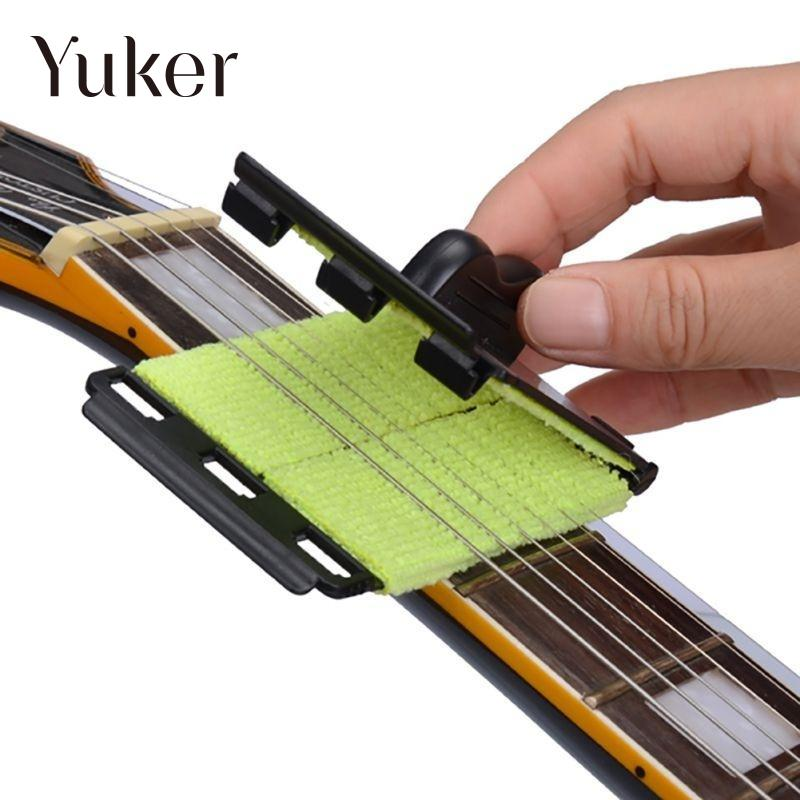 Guitar Bass String Cleaner Polishes Instrument Soft Scrubber Rub Cleaning Tool