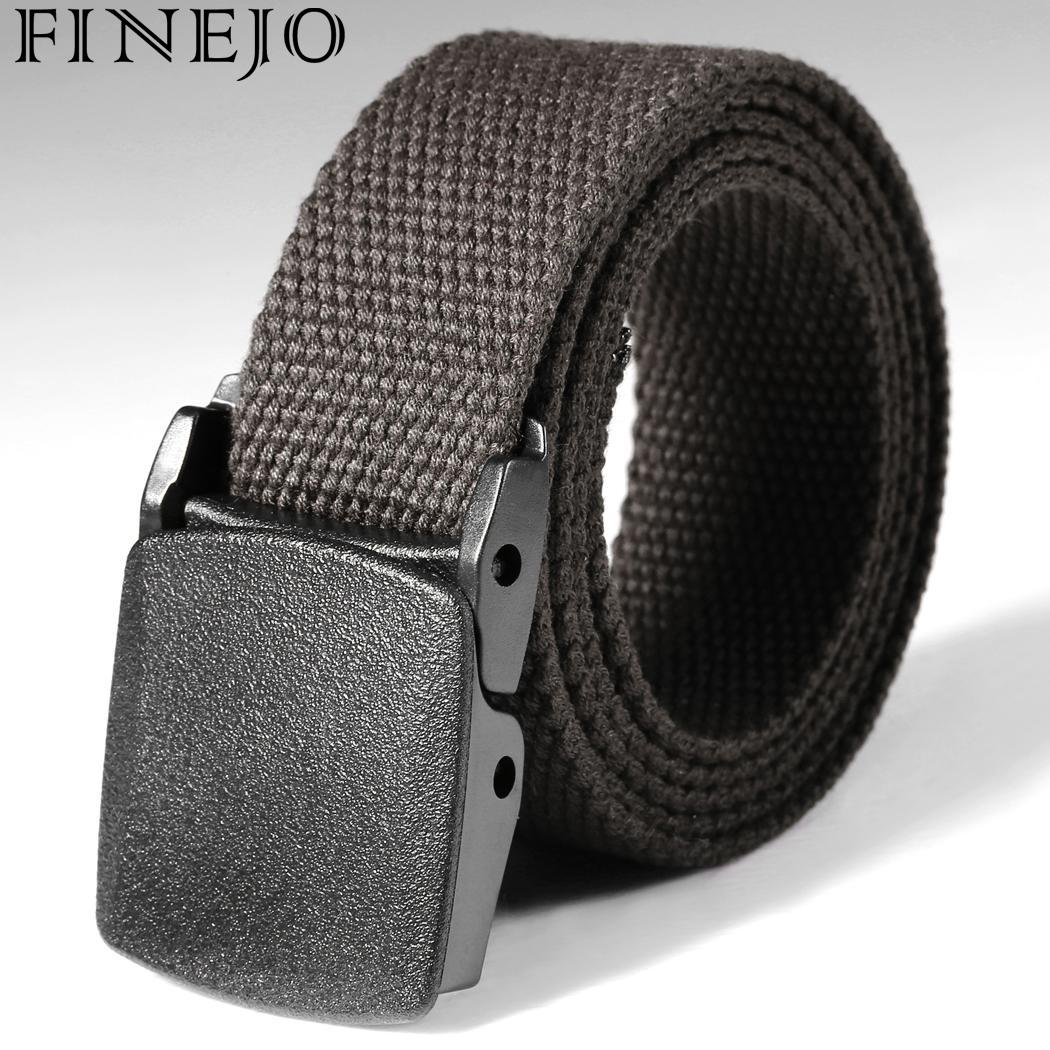 FINEJO military belt outdoor tactical belt high quality canvas belts for jeans male casual straps ceintures Fit Women Men Belts