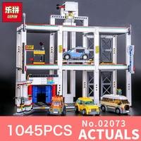 Lepin 02073 1045Pcs Genuine Assemblage City Series The City Garage Set LegoINGlys 4207 Building Blocks Bricks